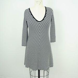 Free People Black White Striped Dress